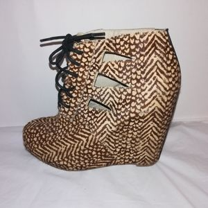 Steve Madden Animal Print Real Cow Hair/ Fur Shoes